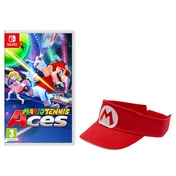 Mario Tennis Aces Nintendo Switch Game + Mario Visor [Red]