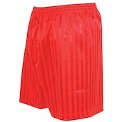 Precision Striped Continental Football Shorts 30-32 inch Red