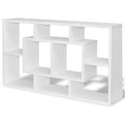 Floating Book Storage Bookshelf | M&W White