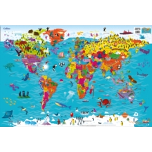 Collins Children's World Map by Collins Maps (Sheet map, rolled, 2015)