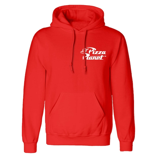 Toy Story - Pizza Planet Badge Unisex Large Hooded Sweatshirt Pullover - Red
