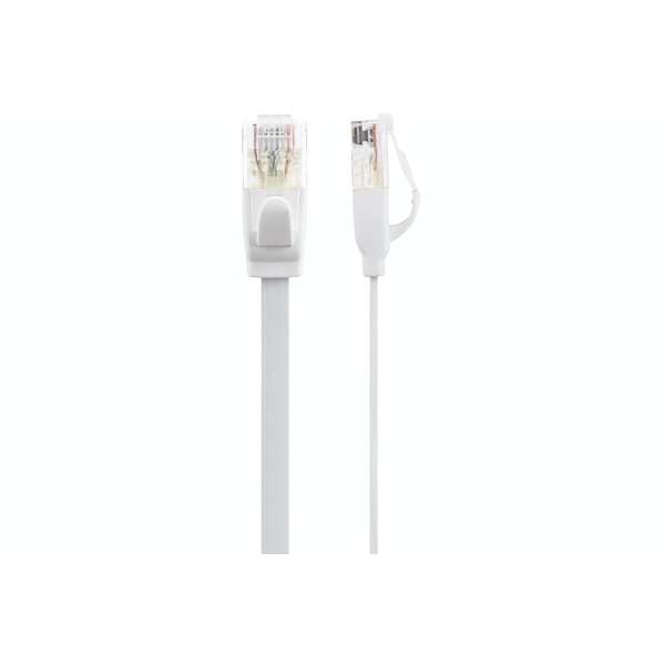 Maplin CAT6 RJ45 Plug Flat Ethernet Network Cable 30m White
