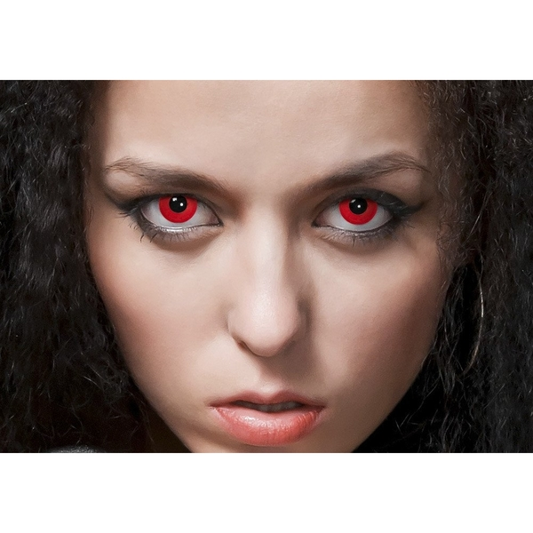 Bloody Red 1 Day Halloween Coloured Contact Lenses (MesmerEyez XtremeEyez) - Image 6