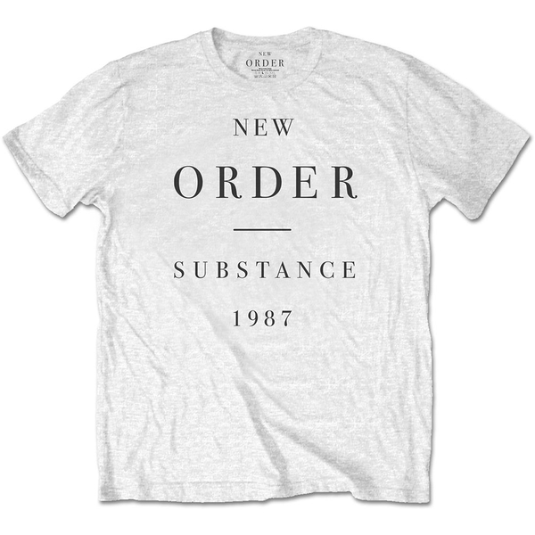 New Order - Substance Men's XX-Large T-Shirt - White