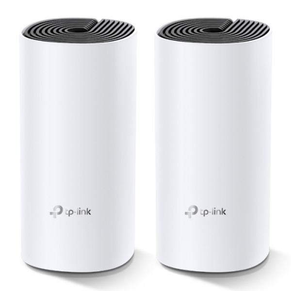 TP-LINK (DECO M4) Whole-Home Mesh Wi-Fi System, 2 Pack, Dual Band AC1200, MU-MIMO, 2 x LAN on each Unit UK Plug