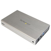 StarTech 3.5 inch Aluminum USB 3.0 Enclosure for External SATA III SSD / HDD Silver