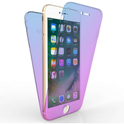 Apple iPhone 7 Plus Full Body 360 TPU Gel Case - Blue / Purple