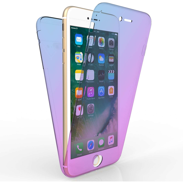 Compare prices with Phone Retailers Comaprison to buy a Apple iPhone 7 Plus Full Body 360 TPU Gel Case - Blue / Purple