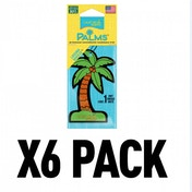 (6 Pack) California Scents Palms Hang-Outs Laguna Breeze Car/Home Air Freshener