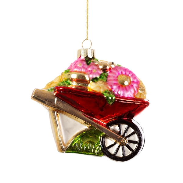 Sass & Belle Wheelbarrow Shaped Bauble