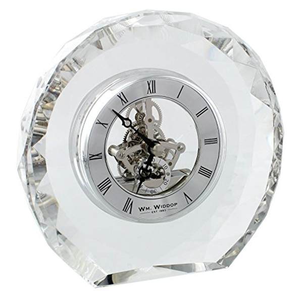 Crystal Mantel Clock with Skeleton Movement