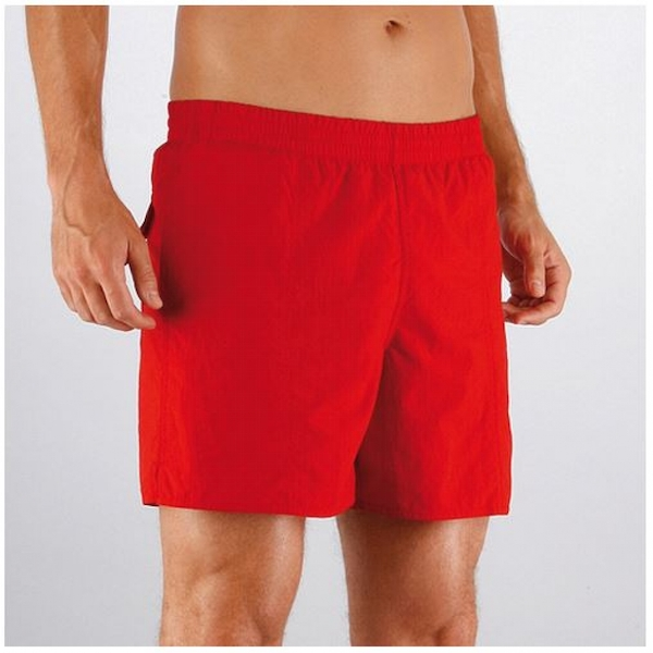 Speedo Mens Solid Leisure Shorts Small China Red