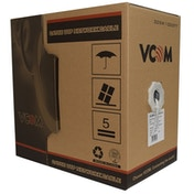 VCOM CAT5e UTP 305m Grey Retail Packaged Reel Box 24AWG 4 Pairs Solid Full Copper Indoor Network Cable