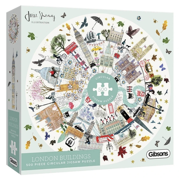 London Buildings Gibsons White Logo Collection Jigsaw Puzzle - 500 Pieces