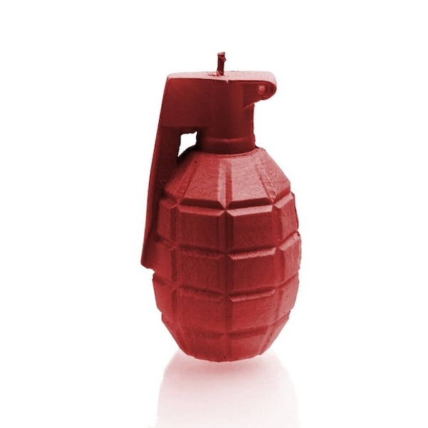 Red Large Grenade Candle