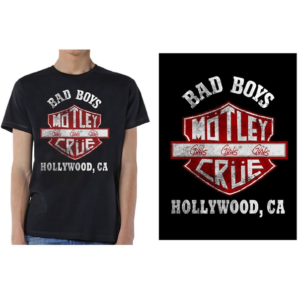 Motley Crue - Bad Boys Shield Unisex X-Large T-Shirt - Black