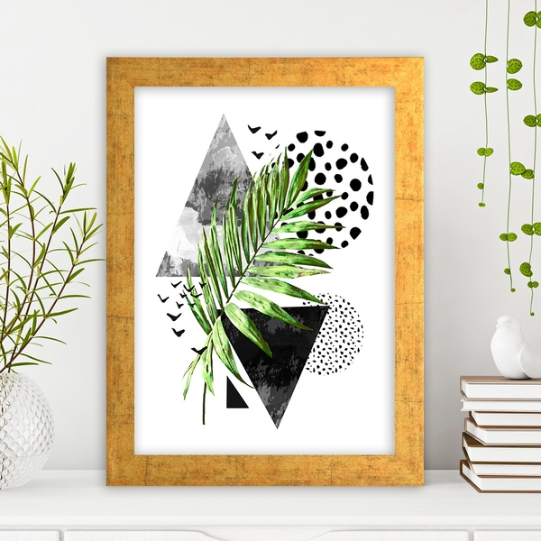 AC649449205 Multicolor Decorative Framed MDF Painting