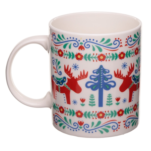 Scandi Moose New Bone China Mug