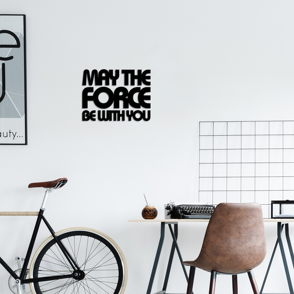 May The Force Be With You 2 Black Decorative Wooden Wall Accessory