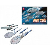 Cadet Series Enterprise (Star Trek) 1:2500 Model Kit Set of 3 by AMT