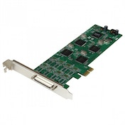 StarTech 8 Port Low Profile PCI Express RS232 Serial Adapter Card with 161050 UART
