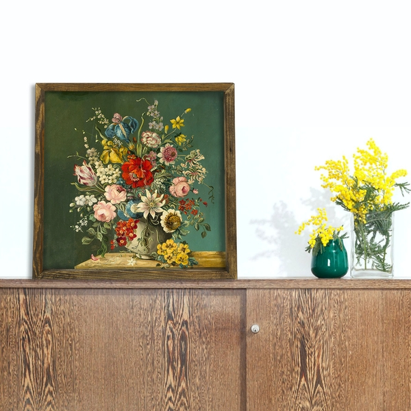 MZM808 Multicolor Decorative Framed MDF Painting