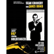 James Bond - Goldfinger - Window Canvas