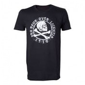 Uncharted 4 Skull 'n' Crossbones Pro Deus Qvod Licentia 1710 Small T-Shirt - Black