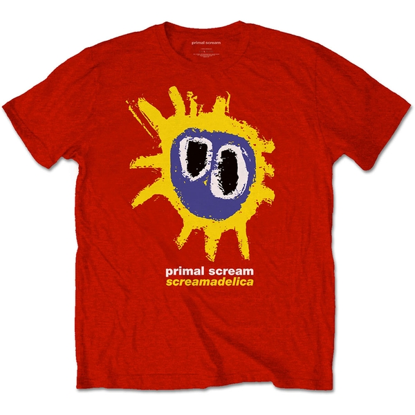Primal Scream - Screamadelica Unisex Large T-Shirt - Red