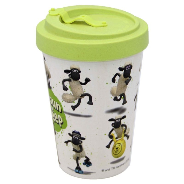 Shaun the Sheep Reusable Screw Top Bamboo Travel Mug
