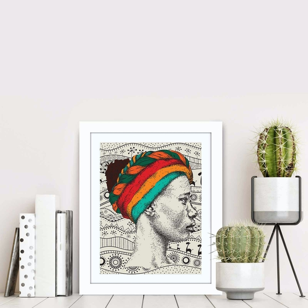 BCT-078 Multicolor Decorative Framed MDF Painting
