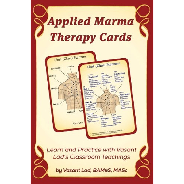 Applied Marma Therapy Cards by Vasant Lad (Paperback, 2014)