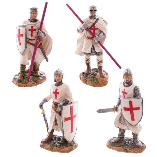Standing Novelty Crusader Knight Figurine (1 Random Supplied)