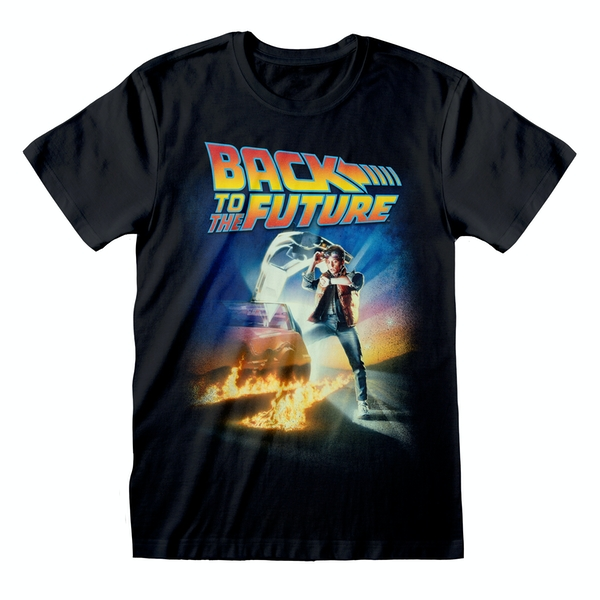 Image of Back To The Future - Poster Large Unisex Small T-Shirt - Black