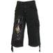 Bone Rips Men's Small 3/4 Long Vintage Cargo Shorts - Black - Image 2