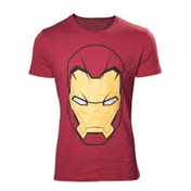 Marvel Comics Iron Man Mask Small Red T-Shirt
