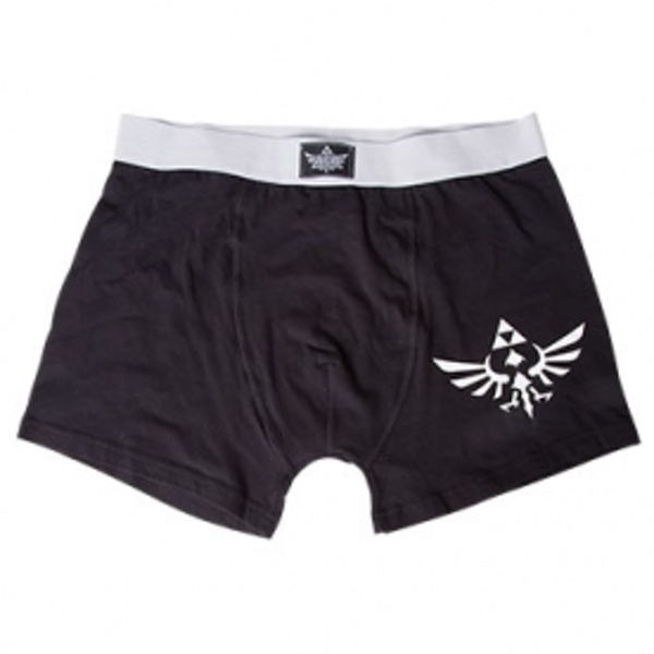 Nintendo Legend of Zelda Adult Male White Royal Crest Small Boxer Short