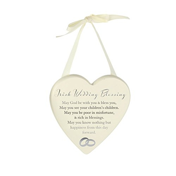 AMORE BY JULIANA? Heart Plaque - Irish Wedding Blessing