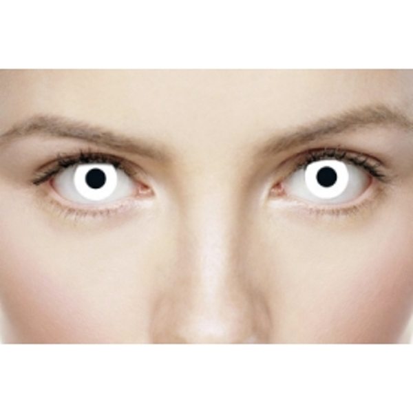 White Out 1 Month Halloween Coloured Contact Lenses (MesmerEyez XtremeEyez)