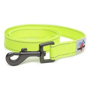 Long Paws Urban Trek Reflective Webbing Leash Small Neon Yellow
