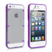 YouSave Accessories iPhone SE 6 Dot Hard Case - Purple