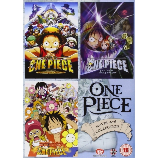 One Piece Movie Collection 2 (Contains Films 4-6) DVD