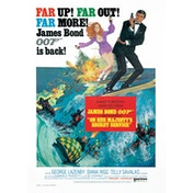 James Bond - On Her Majesty's Secret Service Postcard