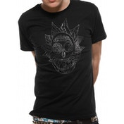 Rick And Morty - Rick Silver Foil Men's Large Short Sleeve T-Shirt - Black