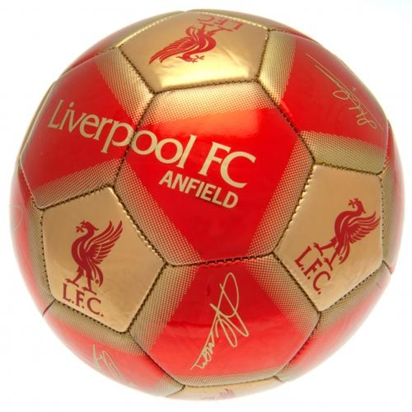 Liverpool FC Football Signature Gold
