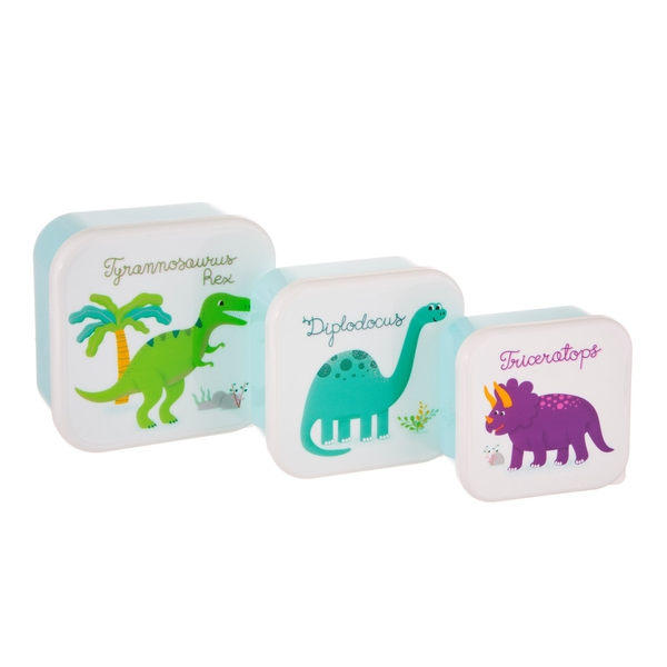 Sass & Belle (Set of 3) Roarsome Dinosaurs Lunch Boxes
