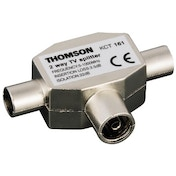 Thomson Antenna Splitter, coax socket - 2 coax plugs
