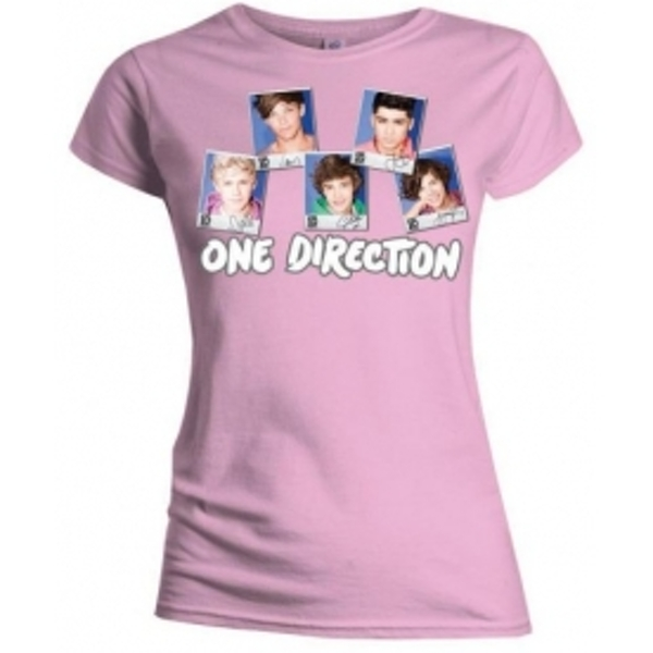 One Direction Polaroid Skinny Pink TS: Large
