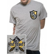 Harry Potter - House Hufflepuff Men's X-Large T-Shirt - Grey
