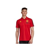 Adidas Official Man UTD Polo Shirt Red XS
